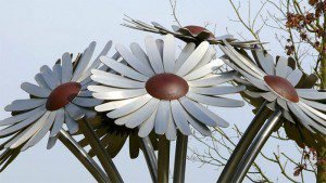 The Gerbea Daisy buquet at Monksmoor Park