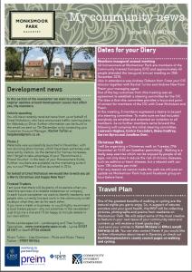 Monskmoor Park newsletter