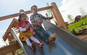 Children-Easter-eggs-on-slide