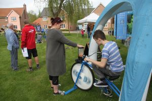Pedal power at Monksmoor Park community event